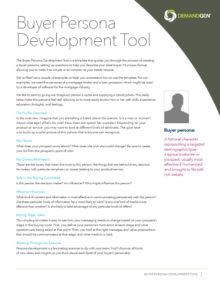 DemandGen Buyer Persona Development Tool