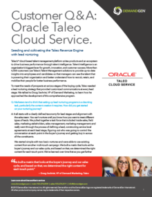 Demandgen oracle taleo case study
