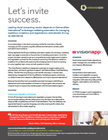 demandgen visionapp case study