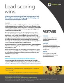 DemandGen Vistage case study