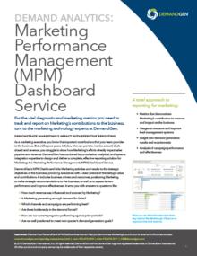 demandgen marketing performance management dashboard service