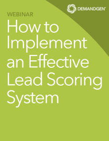 DemandGen Lead scoring webinar