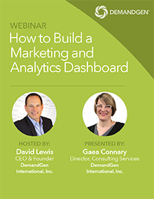 DemandGen webinar marketing metrics and analytics dashboard