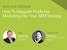 Webinar Announcement: Integrate Predictive Marketing Into Your ABM Strategy