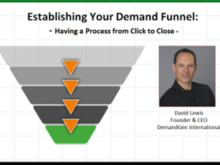 "Did You Miss the ""Establishing Your Demand Funnel"" Webinar?"