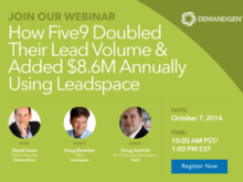 How Five9 Doubled Their Lead Volume & Added $8.6M Annually Using Leadspace