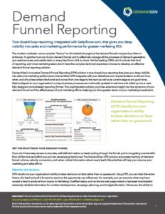 DemandGen Demand Funnel Reporting