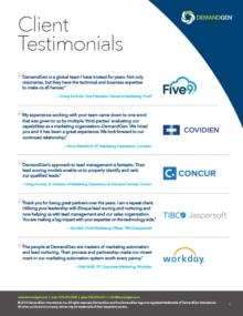 Demandgen client testimonials