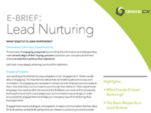 EBrief: What exactly IS lead nurturing?
