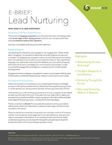 demandgen lead nurturing ebrief