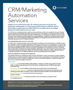 DemandGen crm marketing automation services
