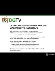 webinar presentation campaign process optimization