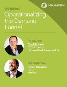 DemandGen webinar operationalizing demand funnel