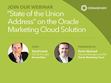 """""""State of the Union Address"""" on the Oracle Marketing Cloud Solution"""