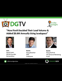 DemandGen webinar Five9 Leadspace