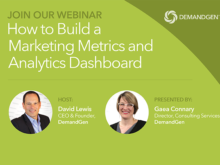 Webinar Announcement: How to Build a Marketing Metrics and Analytics Dashboard