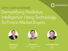 Using Technology to Find in Market Buyers - DemandGen