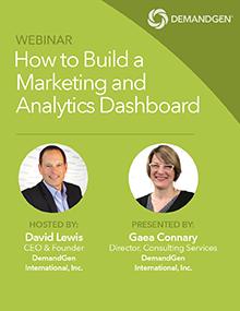 DemandGen webinar marketing metrics and analytics dashboard