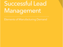 eBrief: Key Steps in Successful Lead Management