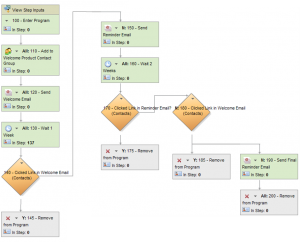Increase Adoption and Transactions with an Automated Welcome Program Flowchart Example