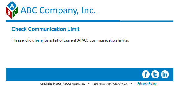 Communication Limits Smart Campaigns List Example 10