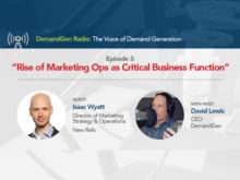 DemandGen Radio: The Rise of Marketing Operations as a Critical Business Function