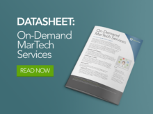 DemandGen's On-Demand MarTech Services (OMS)