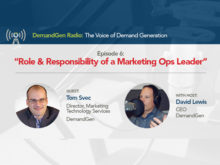 DemandGen Radio: The Role and Responsibility of a Marketing Operations Leader