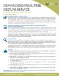 DemandGen Real-Time Deduplication Service Datasheet 2