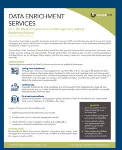 DemandGen Data Enrichement Datasheet