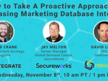 Increasing Marketing Database Integrity Webinar | DemandGen Blog