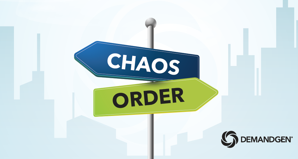 5 Steps to Eliminate Marketing Chaos _ cover image