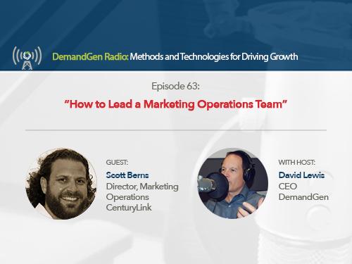 DemandGen Radio: How to Lead a Marketing Operations Team