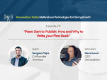 DemandGen Radio: How and Why to Write your First Book