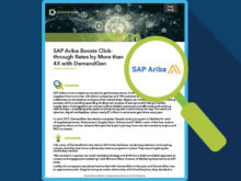 SAP Ariba Boosts Click-through Rates by More than 4X with DemandGen