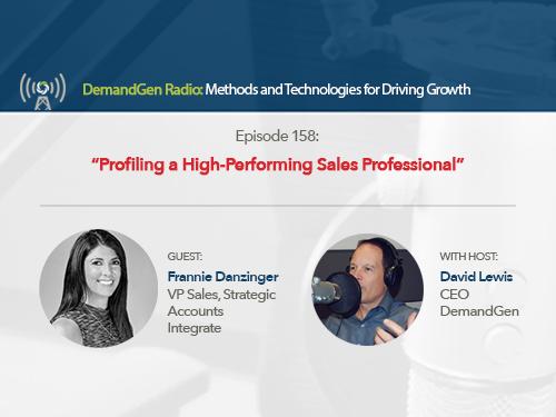 DemandGen Radio: Profiling a High-Performing Sales Professional